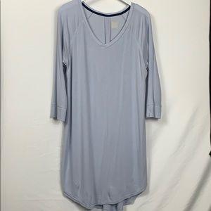 Gillgan OMalley blue ribbed night shirt size Lg.